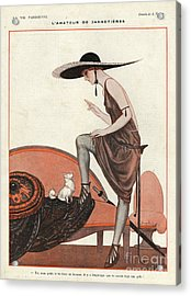 La Vie Parisienne 1922 1920s France Acrylic Print by The Advertising Archives