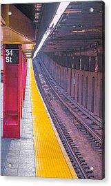 34th Street Subway Station - New York City Acrylic Print by Ben and Raisa Gertsberg