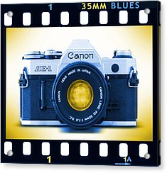 35mm Blues Canon Ae-1 Acrylic Print by Mike McGlothlen