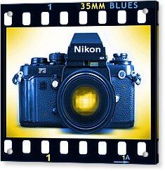 35mm Blues Nikon F-3hp Acrylic Print by Mike McGlothlen