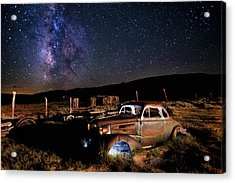 '37 Chevy And Milky Way Acrylic Print by Cat Connor