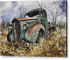 39 Ford Truck Acrylic Print by Sam Sidders
