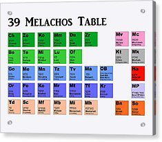 39 Melachos  Acrylic Print by Anshie Kagan