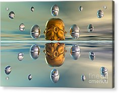 3d Concept Showing The Advancement Acrylic Print by Mark Stevenson