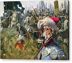 Chart Polski - Polish Greyhound Art Canvas Print Acrylic Print by Sandra Sij