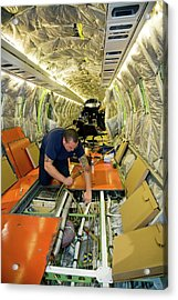 Aircraft Maintenance Acrylic Print by Jim West