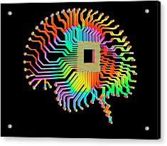 Artificial Intelligence Acrylic Print by Alfred Pasieka