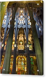 Barcelona - Sagrada Familia Acrylic Print by Andrea Mazzocchetti