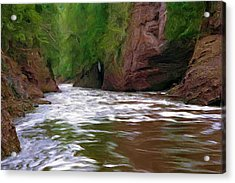 Black River Acrylic Print by Pat Now
