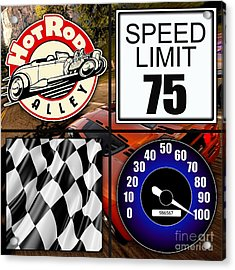 Speed Demon Art For Boys And Men Acrylic Print by Marvin Blaine