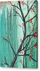 Cherry Tree  Acrylic Print by Carrie Jackson
