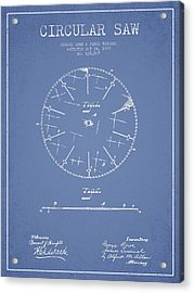 Circular Saw Patent Drawing From 1899 Acrylic Print by Aged Pixel