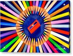 Colorful Pencils Acrylic Print by George Atsametakis