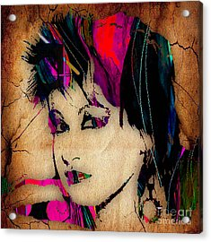 Cyndi Lauper Collection Acrylic Print by Marvin Blaine