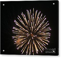 Fire Works On The Fourth Of July  Acrylic Print by Larry Stolle