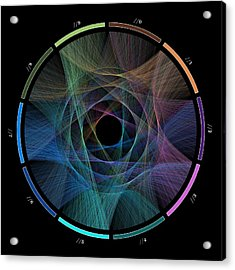 Flow Of Life Flow Of Pi Acrylic Print by Cristian Ilies Vasile