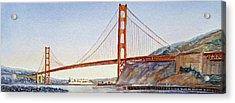 Golden Gate Bridge San Francisco Acrylic Print by Irina Sztukowski