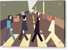4 Guys Crossing Abbey Road Acrylic Print by Igor Kislev