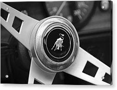 Lamborghini Steering Wheel Emblem Acrylic Print by Jill Reger