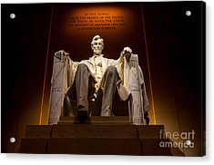 Lincoln Memorial At Night - Washington D.c. Acrylic Print by Gary Whitton