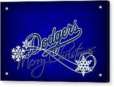 Los Angeles Dodgers Acrylic Print by Joe Hamilton