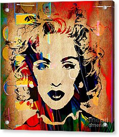 Madonna Collection Acrylic Print by Marvin Blaine