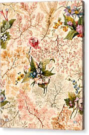 Marble End Paper Acrylic Print by William Kilburn