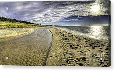 Otter Creek And Lake Michigan Acrylic Print by Twenty Two North Photography