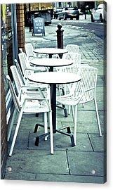 Outside Cafe Acrylic Print by Tom Gowanlock