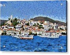 Poros Island Acrylic Print by George Atsametakis