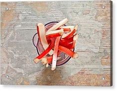 Rhubarb Acrylic Print by Tom Gowanlock