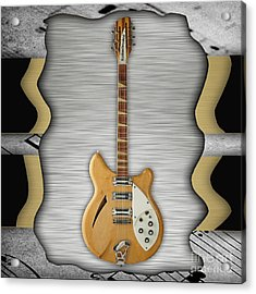 Rickenbacker Guitar Collection Acrylic Print by Marvin Blaine