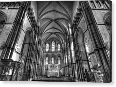 Rochester Cathedral Interior Hdr. Acrylic Print by David French