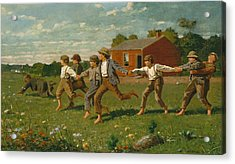 Snap The Whip Acrylic Print by Winslow Homer