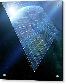 Space Solar Power Station Acrylic Print by Detlev Van Ravenswaay