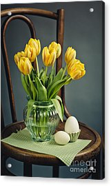 Still Life With Yellow Tulips Acrylic Print by Nailia Schwarz
