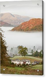 Temperature Inversion Over Ambleside Acrylic Print by Ashley Cooper