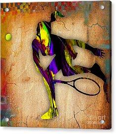 Tennis Acrylic Print by Marvin Blaine