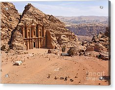 The Monastery At Petra In Jordan Acrylic Print by Robert Preston