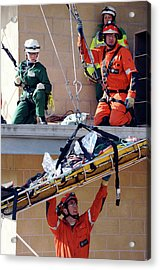 Training Exercise For Major Emergency Acrylic Print by Public Health England