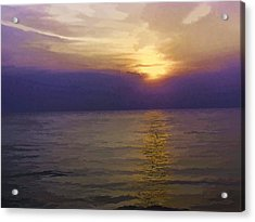 View Of Sunset Through Clouds Acrylic Print by Ashish Agarwal