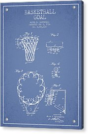 Vintage Basketball Goal Patent From 1936 Acrylic Print by Aged Pixel