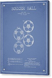 Vintage Soccer Ball Patent Drawing From 1964 Acrylic Print by Aged Pixel