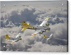 487th Bomb Group Acrylic Print by Pat Speirs