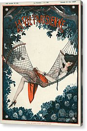 La Vie Parisienne  1924 1920s France Acrylic Print by The Advertising Archives