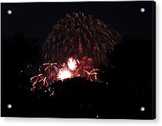 4th Of July Fireworks - 011333 Acrylic Print by DC Photographer