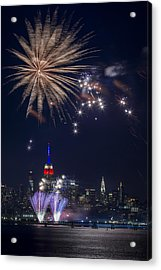 4th Of July Fireworks Acrylic Print by Eduard Moldoveanu