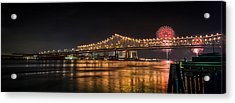 4th Of July Over The Big Easy Part Deaux Acrylic Print by David Morefield