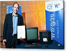 20 Years Of The World Wide Web Acrylic Print by Cern