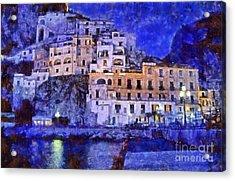 Amalfi Town In Italy Acrylic Print by George Atsametakis